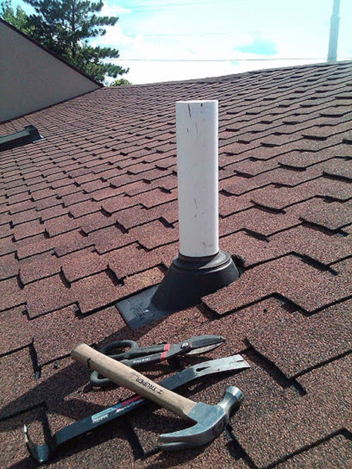 Radon Mitigation: Radon Fan Vent On Roof