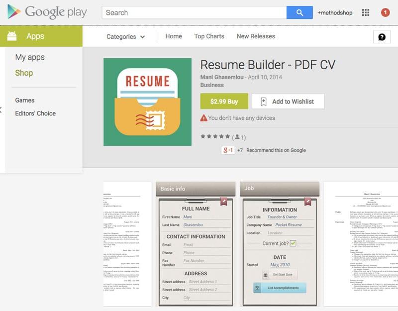 Resume Builder Pro - App