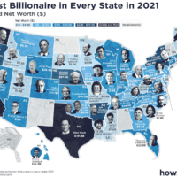 A Map Of America's Richest Person In Every State (2021)
