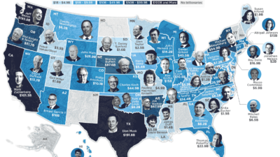 A Map Of America'S Richest Person In Every State