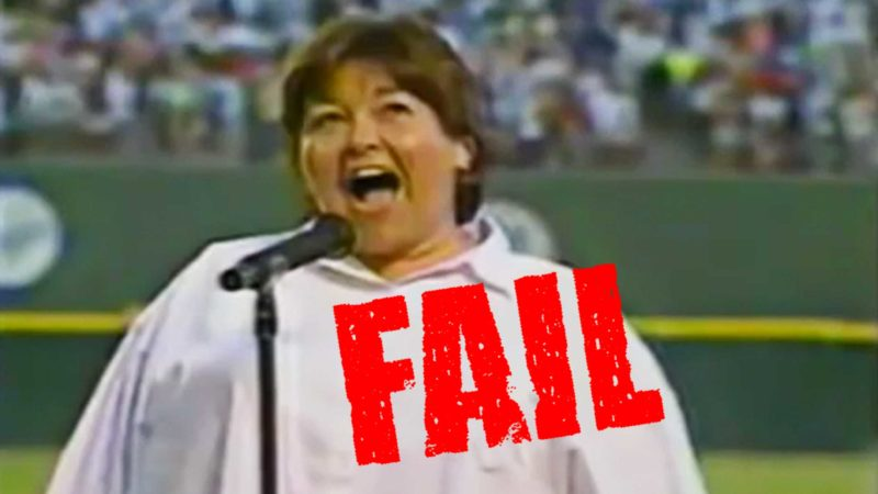 Rosanne Barr - Worst National Anthem Fail