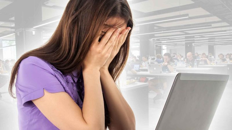 Sad Woman At Work