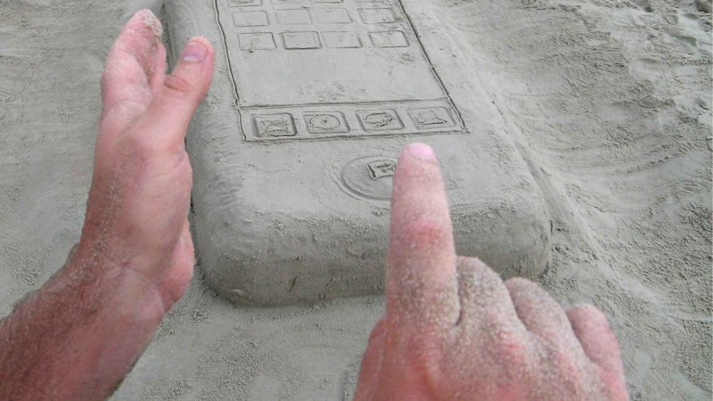 iPhone Made Out Of Sand