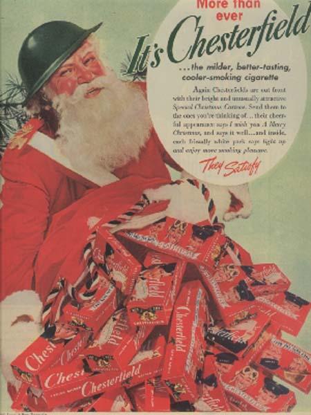 Santa Smokes Chesterfields