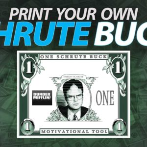 Dwight Schrute Buck: Print Your Own With This High Resolution Image