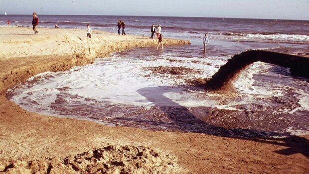 Sewage Draining Into Ocean