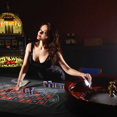 Attractive Female Casino Employee