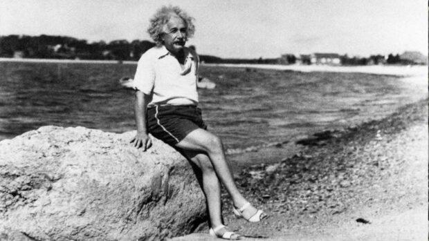 Albert Einstein At Horseshoe Cove In Nassau Point (1939)