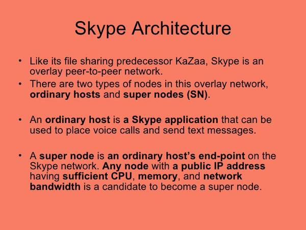 Skype Architecture Facts - The History Of Video Conferencing