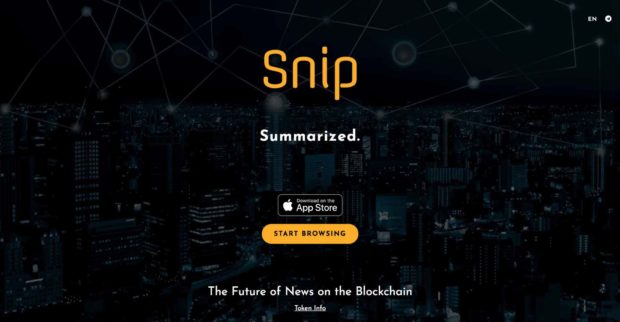 Snip - The Future of News on the Blockchain