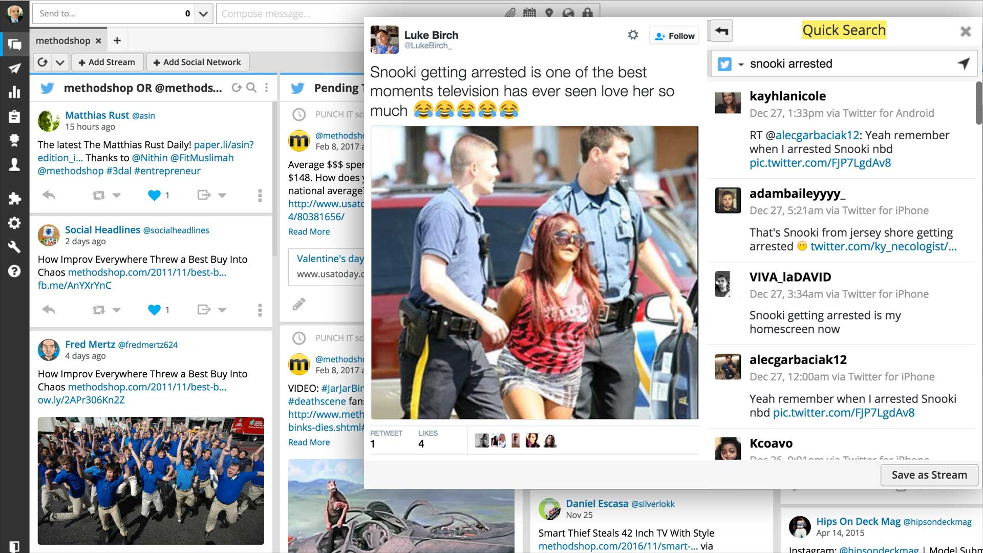 Snooki Arrested: Hootsuite Search