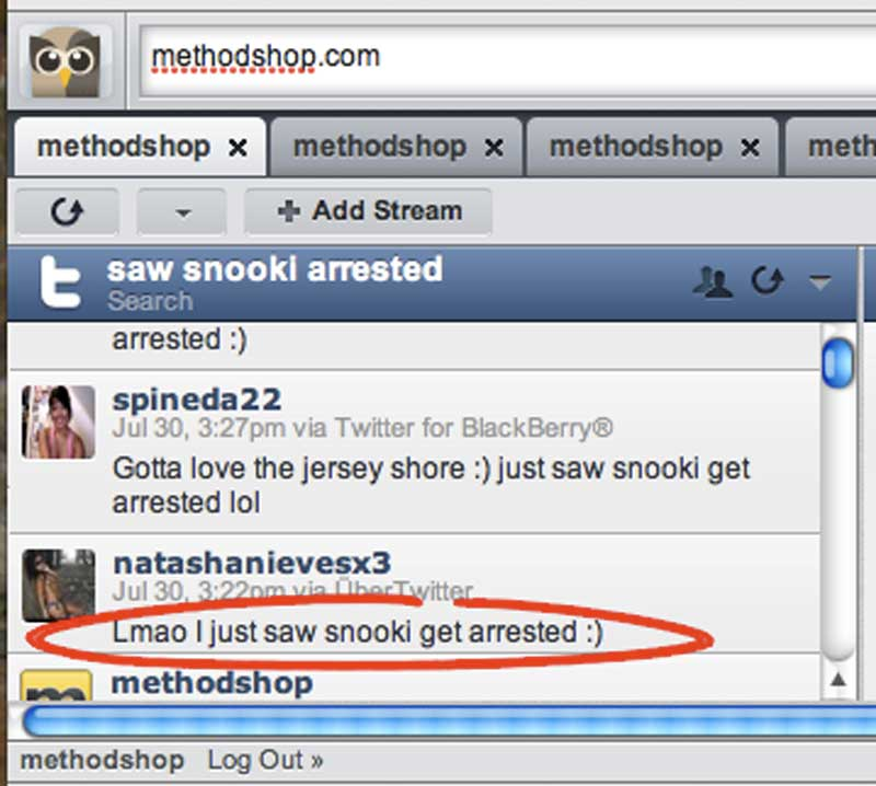 How TMZ Used Twitter as a Newsgathering Tool to Break Snooki's Jersey Shore Arrest 1
