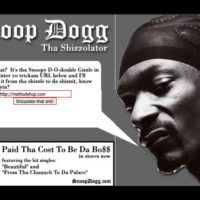 THE SHIZZOLATER: Translate Your Blog From English To Snoop Dogg's Shizzle