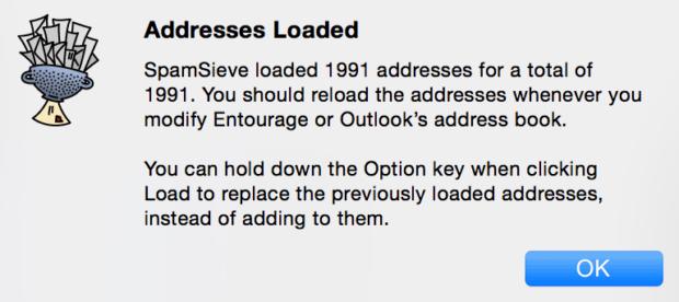 SpamSieve Address Book Loading
