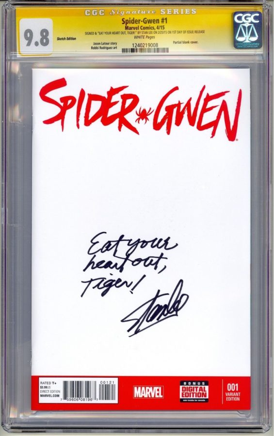 Spider-Gwen Issue #1 Autographed By Stan Lee