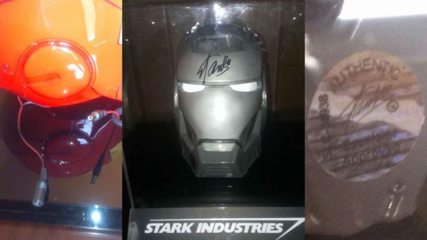 STAN LEE SIGNED MARVEL IRON MAN WAR MACHINE HELMET