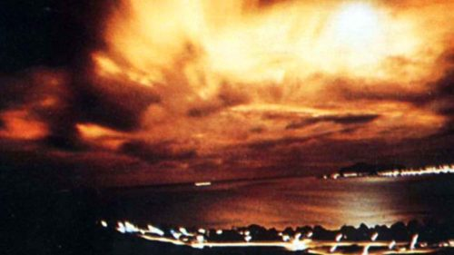 Starfish Prime Nuclear Explosion As Seen From Honolulu, HI