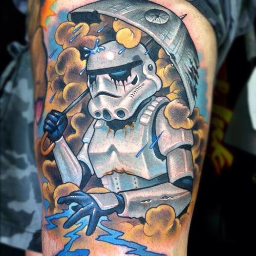 5 awesome star wars tattoos that will make you smile. Black Bedroom Furniture Sets. Home Design Ideas