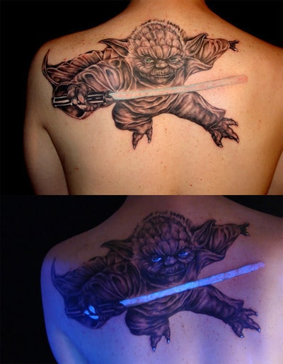 Yoda Tattoo Glow In The Dark