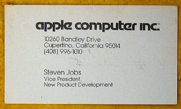 Steve Jobs Business Card - Famous Business Cards From Tech Leaders