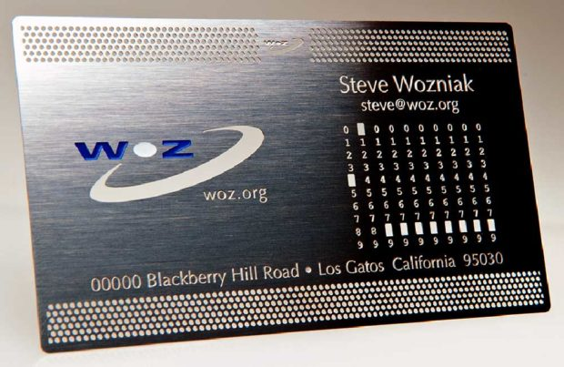 Steve Wozniak Business Card - Famous Business Cards From Tech Leaders
