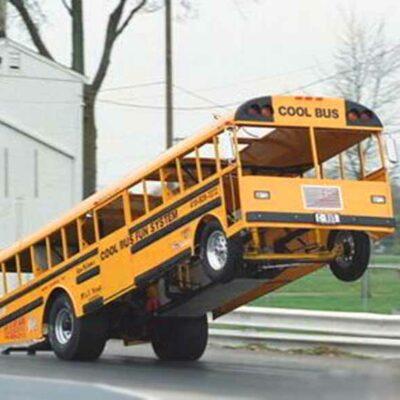 Drag Racing School Bus