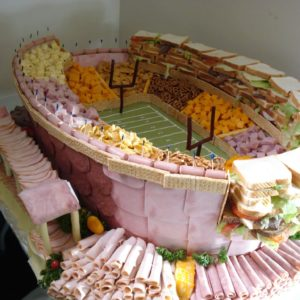 The Ultimate Super Bowl Party Platter Idea: Sandwich Stadium