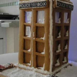 Delicious Doctor Who Tardis Gingerbread Cookies