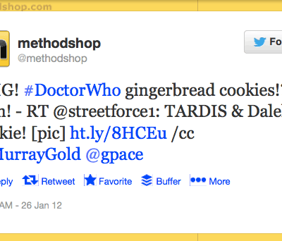 tardis gingerbread cookie