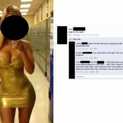 Teacher Wearing Skin Tight Dress