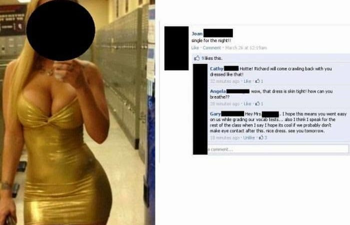 Teacher Wearing Skin Tight Dress