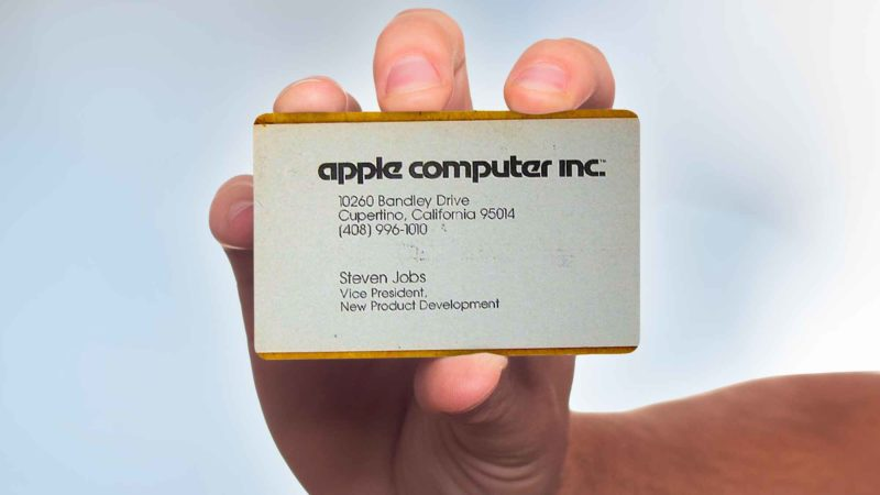 Famous Business Cards From Tech Leaders - Steve Jobs