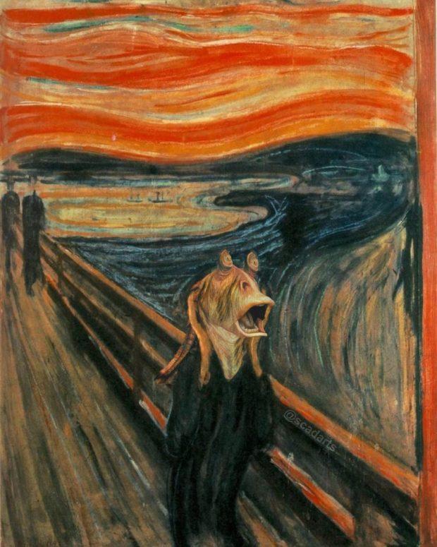 The Scweam - The Scream With Jar Jar Binks
