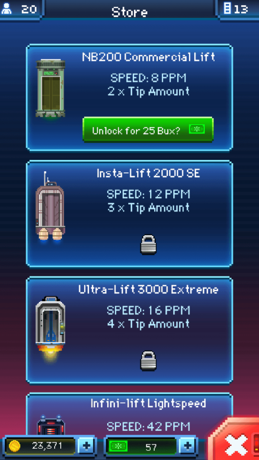 Tiny Death Star: Elevator Upgrades