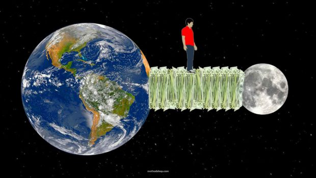 What Does A Trillion Dollars Look Like?Try Stacking $1 Bills From The Earth To The Moon.