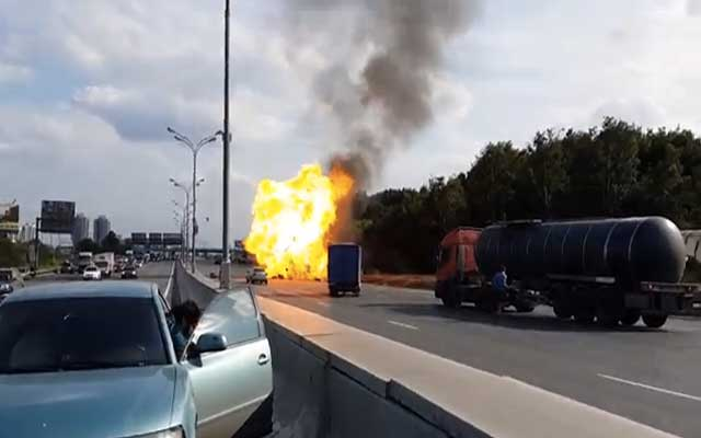 This Truck Explodes And Incredible 39 Times