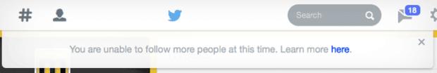 Twitter's follow limits