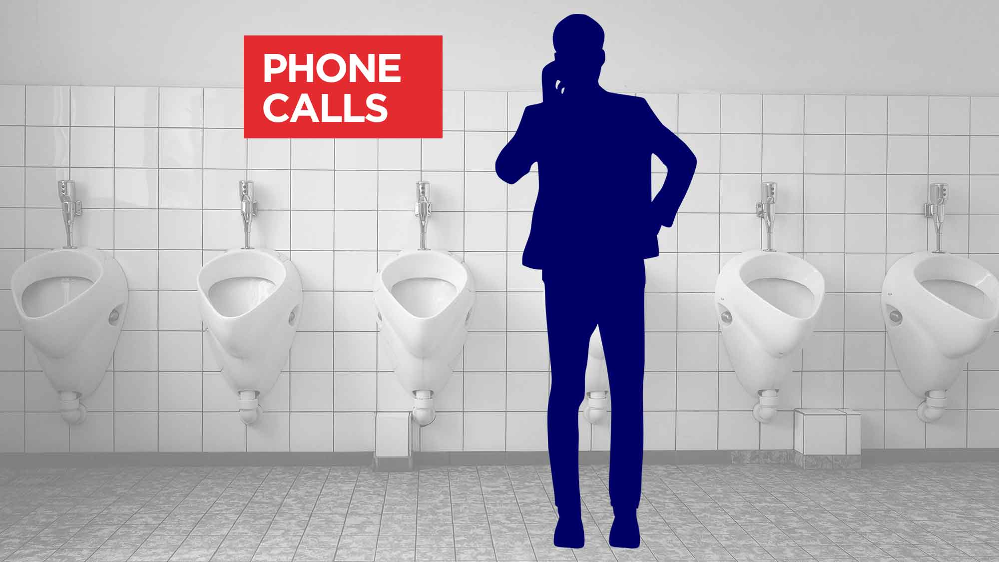 Urinal Etiquette Quiz - Talking At A Urinal - Talking On The Phone