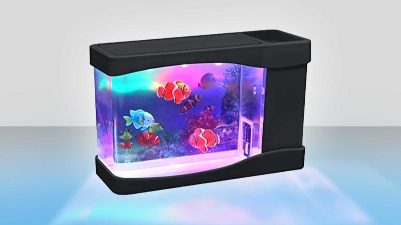 Mini USB Aquarium Desk Toy With Artificial Fish