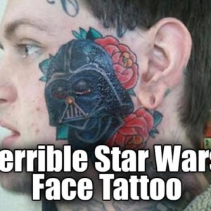This Guy Got A Giant Darth Vader Tattoo on His Face
