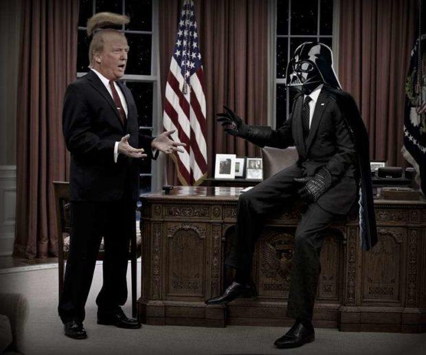 Donald Trump Meets Darth Vader