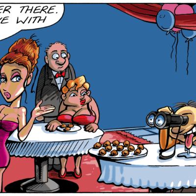 Funny Valentines Day Cartoon: My Stalker