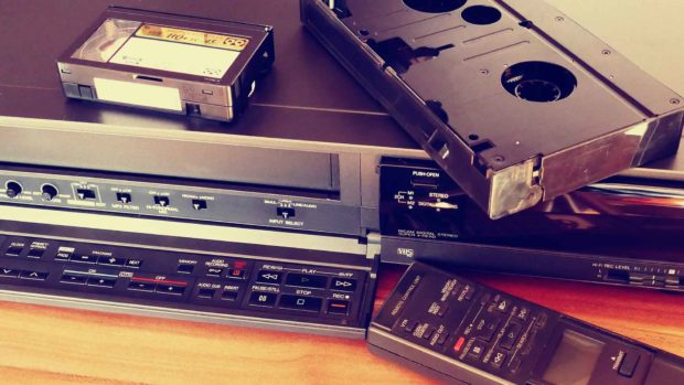 VCR Video Tapes Movie Old Retro Cassette Film