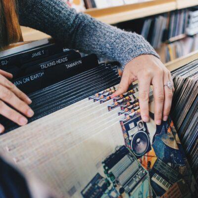 Music Fan Browsing Vinyl Records