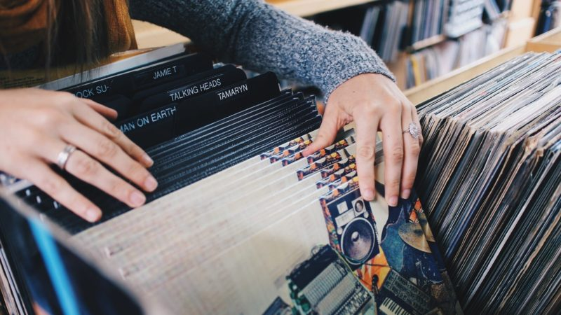 Music Fan Browsing Vinyl Records