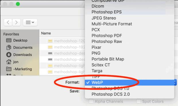 Webp To Jpg: Export As Webp In Photoshop