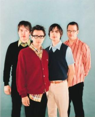 Weezer Band Photo - Weezer Frisbee Catch