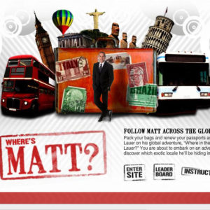 TODAY Show Launches 'Where In The World Is Matt Lauer?' Web Games