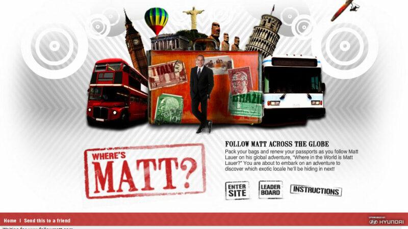 Where in the World Is Matt Lauer? - Games