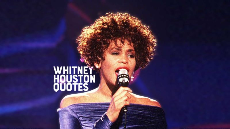 """Whitney Houston performing """"Greatest Love of All"""""""